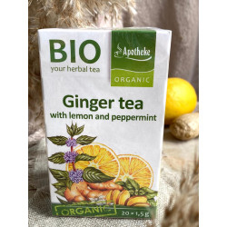 Ginger tea with lemon and peppermint BIO, 30g