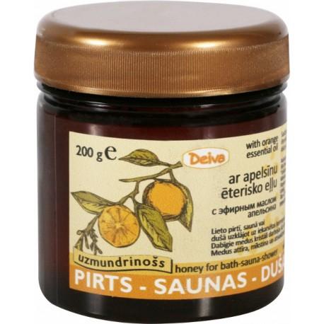 Pirts-Saunas-dušas medus+apelsīnu ēterisko eļļu