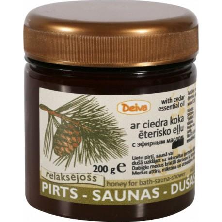 Pirts-Saunas-dušas medus+ciedra koka ēterisko eļļu