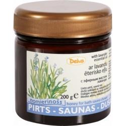 Pirts-saunas-dušas medus+lavandu ēterisko eļļu 200g