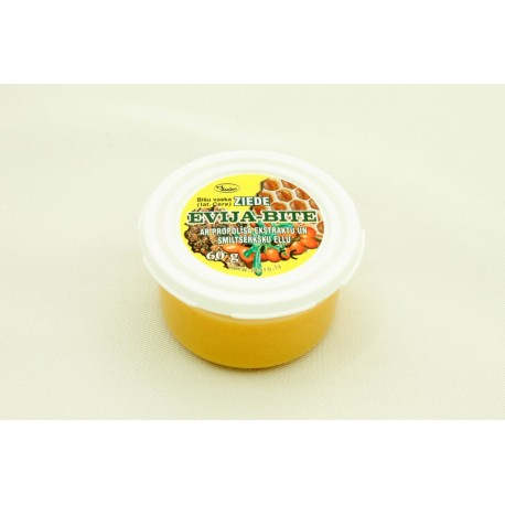 """Bišu vaska ziede """"Evija-Bite"""" ar propolisa ekstraktu un smiltsērkšķu eļļu 60g"""