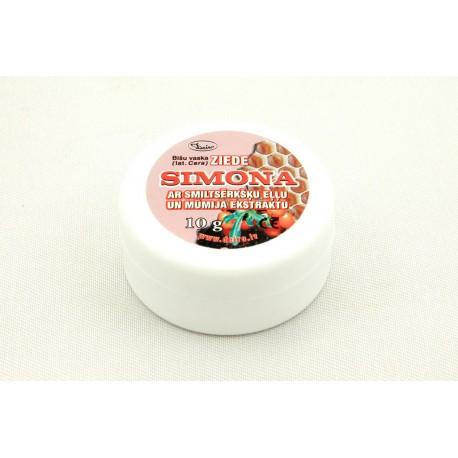 """Bišu vaska ziede """"Simona"""" ar smiltsērkšķu eļļu un mūmija ekstraktu 10g"""
