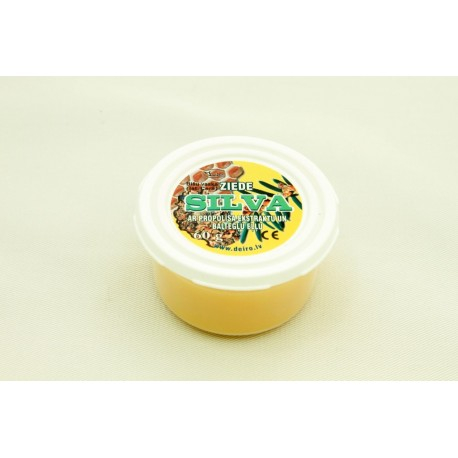 """Bišu vaska ziede """"Silva"""" ar propolisa ekstraktu un baltegļu eļļu 60g"""