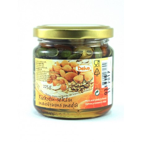 Honey with nuts and seeds 225g