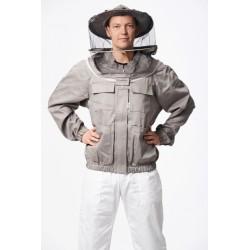 Biškopja jaka ar apaļu sejassargu un nosegtu rāvējslēdzēju, S-XXXL