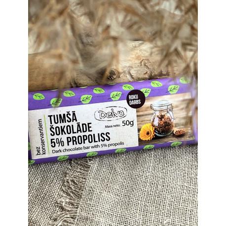 Dark chocolate with 5% propolis 50g