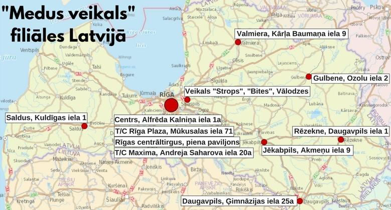Medus_veikala_filiales_Latvija